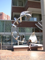 Fish Sculpture Outside Legal Seafood, Kendall Square