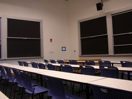 Stata Center Classroom - There are 18 blackboards, which give higher contrast than whiteboards.