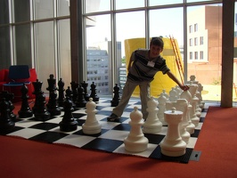 Stata Center - Thomas and the chess set